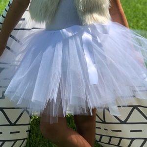 "Other - Custom made white tutu-girls 14"" long."